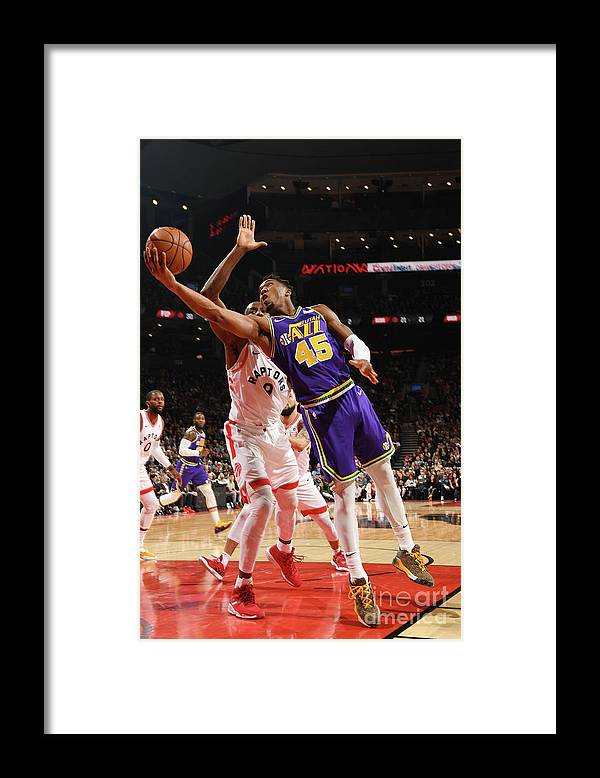 Nba Pro Basketball Framed Print featuring the photograph Donovan Mitchell by Ron Turenne
