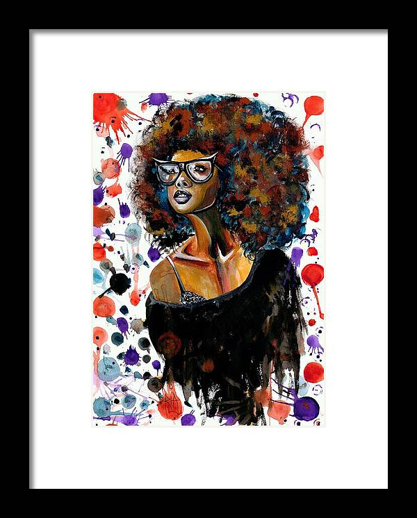 Sexy Framed Print featuring the painting Dope Chic by Artist RiA
