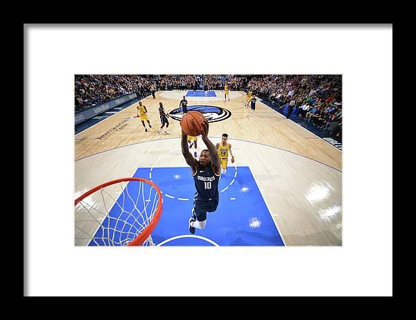 Nba Pro Basketball Framed Print featuring the photograph Dorian Finney-smith by Jesse D. Garrabrant