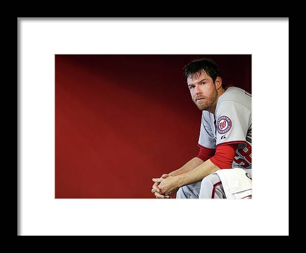 Doug Fister Framed Print featuring the photograph Doug Fister by Christian Petersen