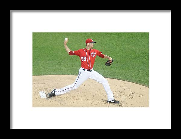 Second Inning Framed Print featuring the photograph Doug Fister by Mitchell Layton