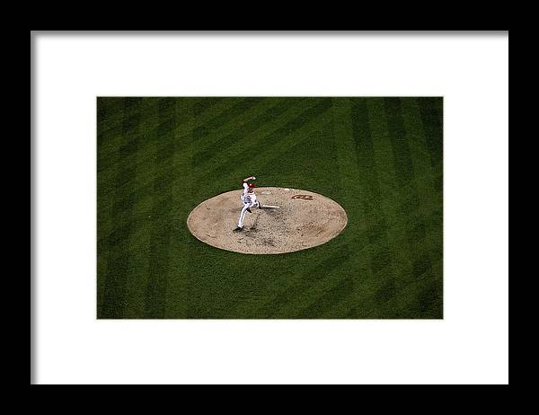 Working Framed Print featuring the photograph Doug Fister by Patrick Smith