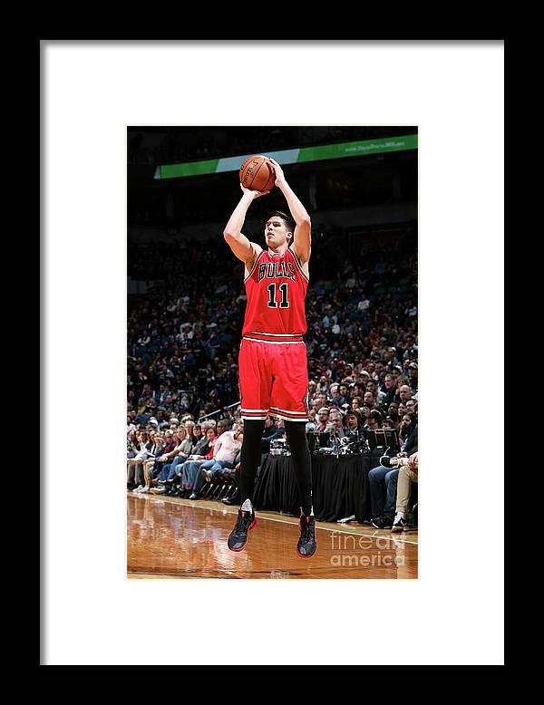 Nba Pro Basketball Framed Print featuring the photograph Doug Mcdermott by David Sherman