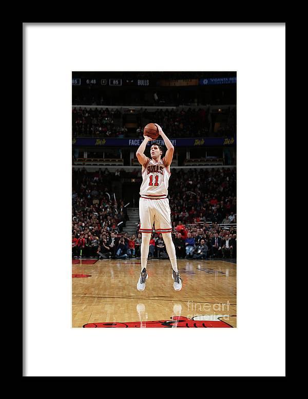 Nba Pro Basketball Framed Print featuring the photograph Doug Mcdermott by Gary Dineen