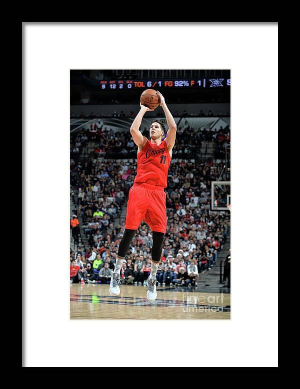 Nba Pro Basketball Framed Print featuring the photograph Doug Mcdermott by Mark Sobhani
