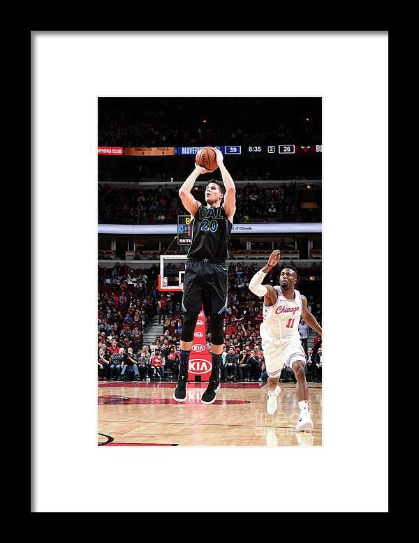Nba Pro Basketball Framed Print featuring the photograph Doug Mcdermott by Randy Belice