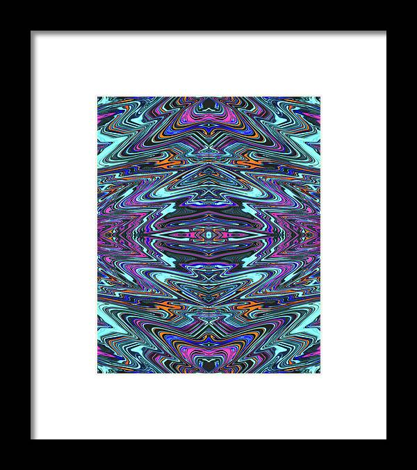 Abstract Framed Print featuring the digital art Dragon Eye Mecha by Jack Entropy