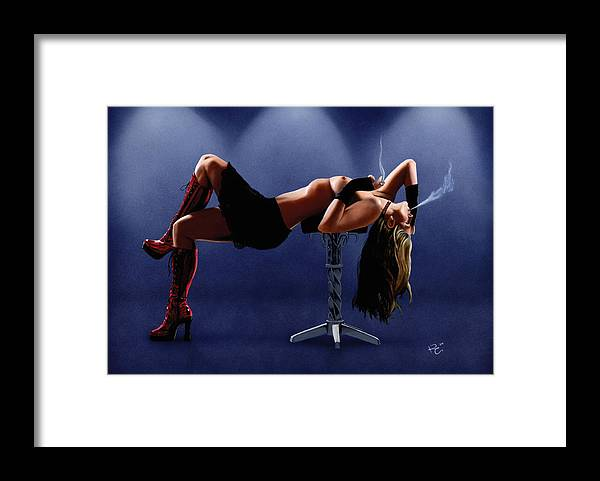 Smoking Framed Print featuring the painting Dramatic Pause by Kevin Clark