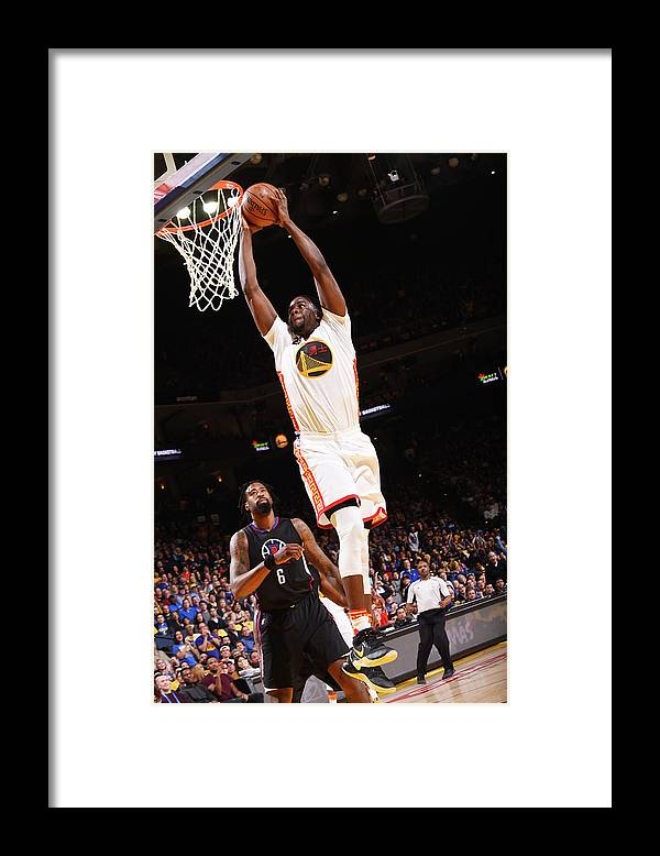 Nba Pro Basketball Framed Print featuring the photograph Draymond Green and Deandre Jordan by Noah Graham