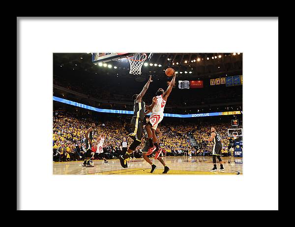 Playoffs Framed Print featuring the photograph Draymond Green and James Harden by Andrew D. Bernstein