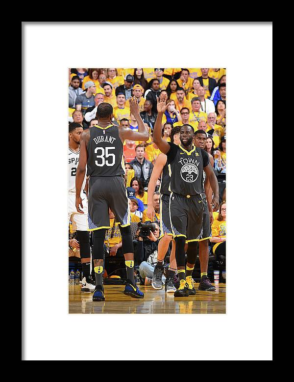Playoffs Framed Print featuring the photograph Draymond Green and Kevin Durant by Andrew D. Bernstein
