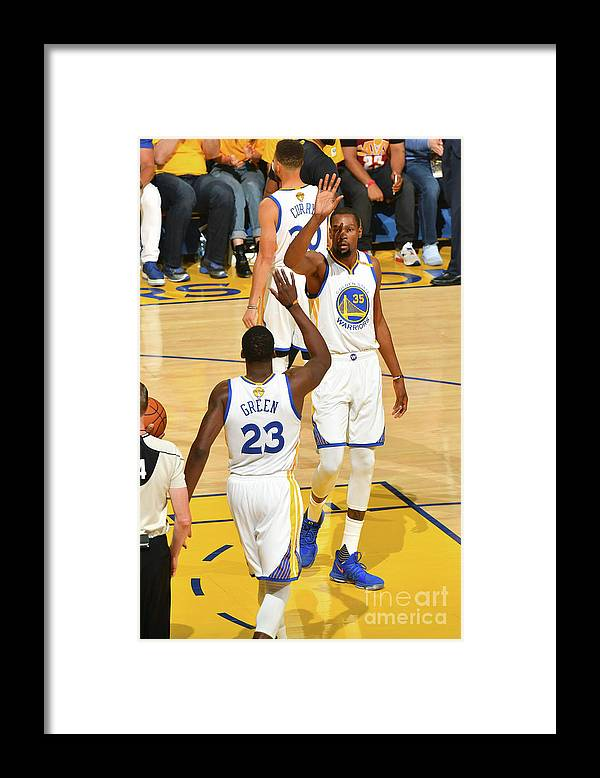 Playoffs Framed Print featuring the photograph Draymond Green and Kevin Durant by Jesse D. Garrabrant