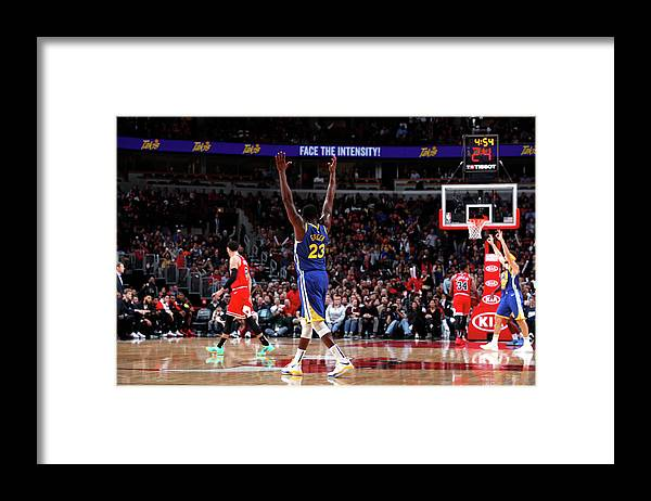 Nba Pro Basketball Framed Print featuring the photograph Draymond Green and Klay Thompson by Jeff Haynes