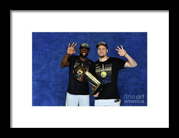 Playoffs Framed Print featuring the photograph Draymond Green and Klay Thompson by Jesse D. Garrabrant