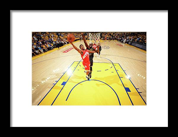 Playoffs Framed Print featuring the photograph Draymond Green and Kyle Lowry by Jesse D. Garrabrant