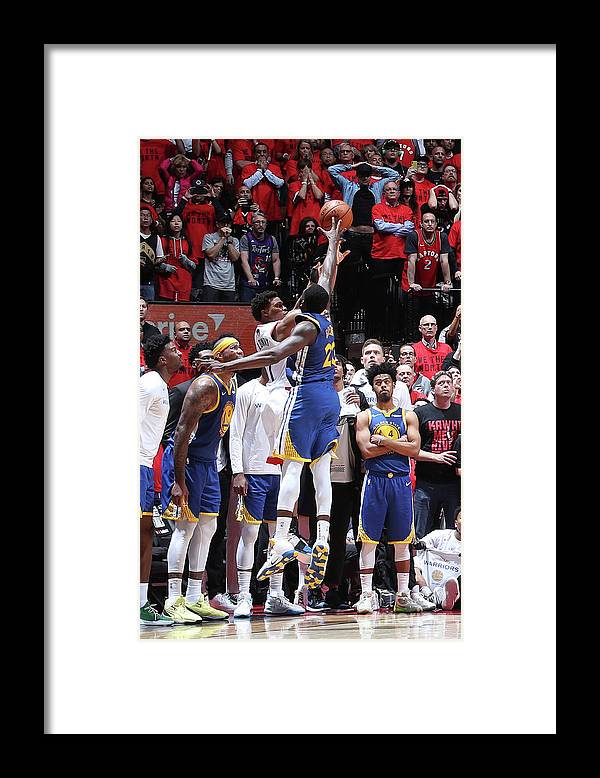 Playoffs Framed Print featuring the photograph Draymond Green and Kyle Lowry by Nathaniel S. Butler