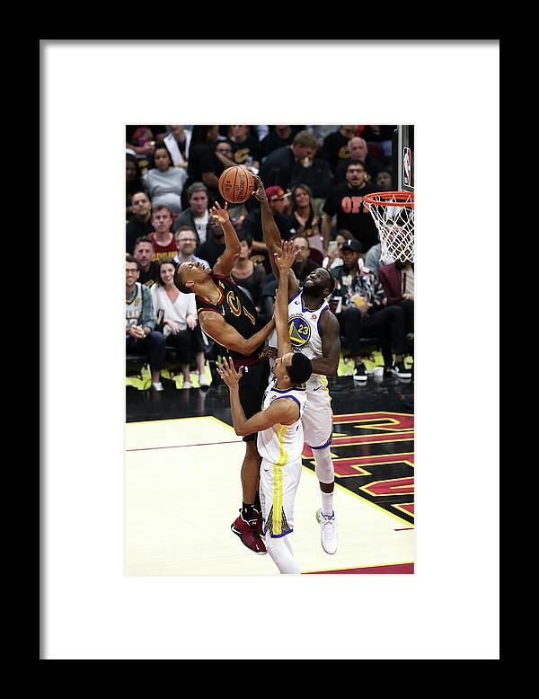 Playoffs Framed Print featuring the photograph Draymond Green and Rodney Hood by Joe Murphy