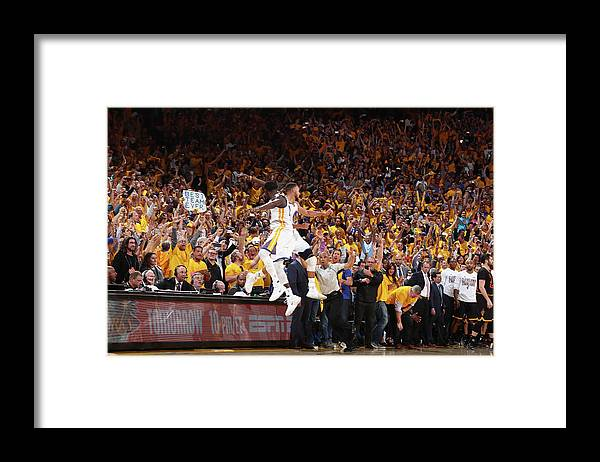 Playoffs Framed Print featuring the photograph Draymond Green and Stephen Curry by Nathaniel S. Butler