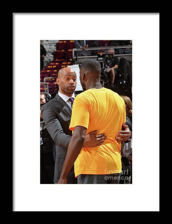 Playoffs Framed Print featuring the photograph Draymond Green and Vince Carter by Jesse D. Garrabrant