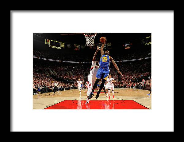 Playoffs Framed Print featuring the photograph Draymond Green by Cameron Browne