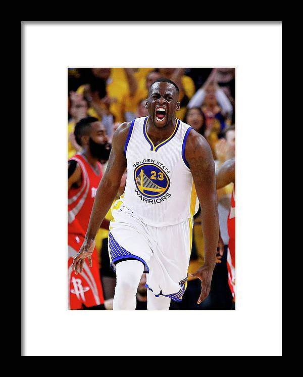 Playoffs Framed Print featuring the photograph Draymond Green by Ezra Shaw