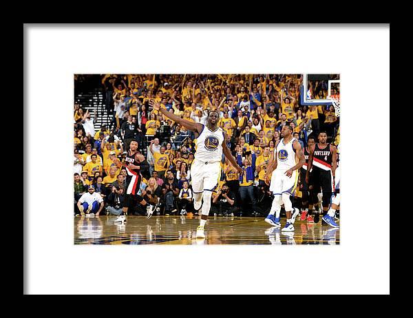 Playoffs Framed Print featuring the photograph Draymond Green by Garrett Ellwood