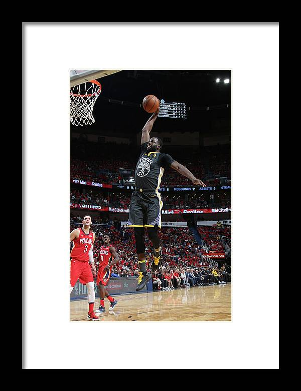 Smoothie King Center Framed Print featuring the photograph Draymond Green by Layne Murdoch