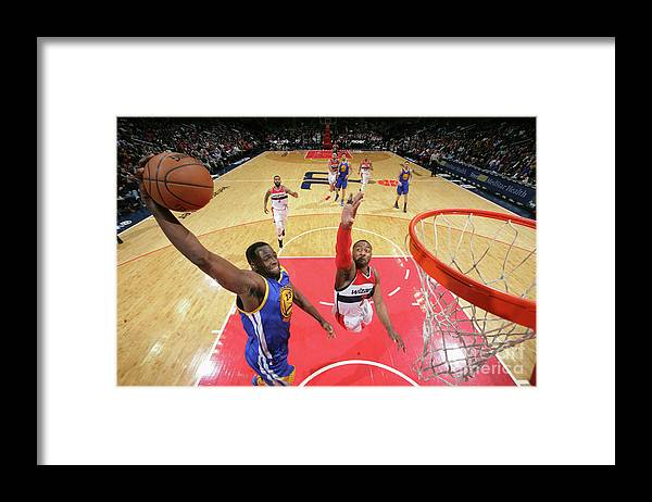 Nba Pro Basketball Framed Print featuring the photograph Draymond Green by Ned Dishman
