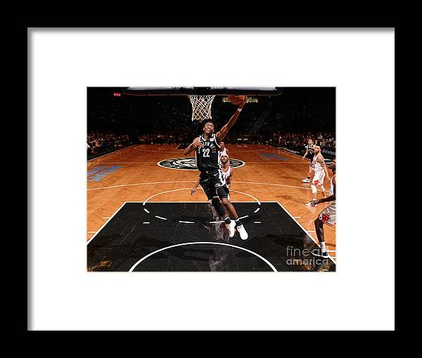 Nba Pro Basketball Framed Print featuring the photograph Drazen Petrovic and Caris Levert by Jesse D. Garrabrant