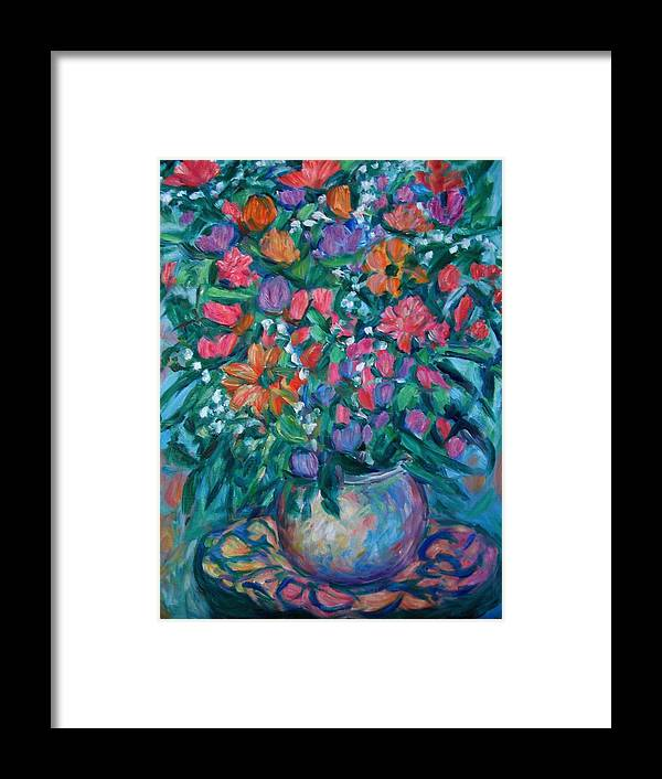 Floral Paintings Framed Print featuring the painting Dream Bouquet by Kendall Kessler