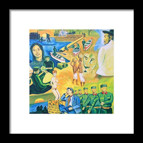 Dreamlike Atmosphere Framed Print featuring the painting Dream of the peddler of oranges by Biagio Civale