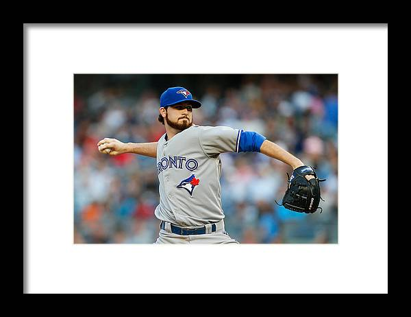 American League Baseball Framed Print featuring the photograph Drew Hutchison by Mike Stobe