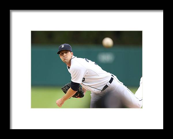 American League Baseball Framed Print featuring the photograph Drew Smyly by Leon Halip
