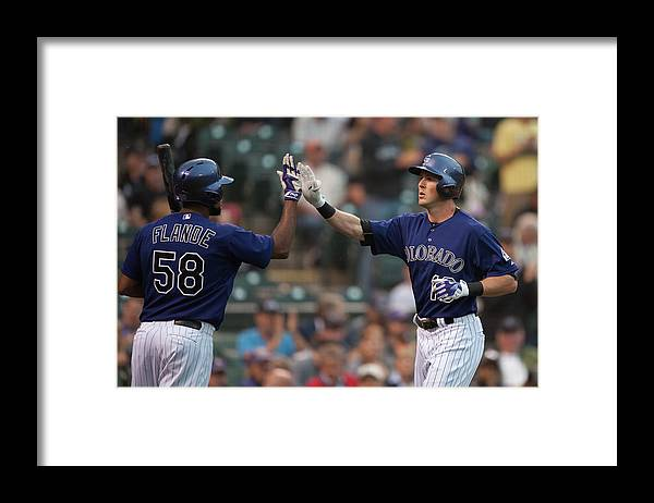 Three Quarter Length Framed Print featuring the photograph Drew Stubbs and Andrew Heaney by Dustin Bradford