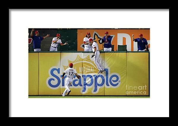 Ninth Inning Framed Print featuring the photograph Drew Stubbs and Shin-soo Choo by Tom Pennington