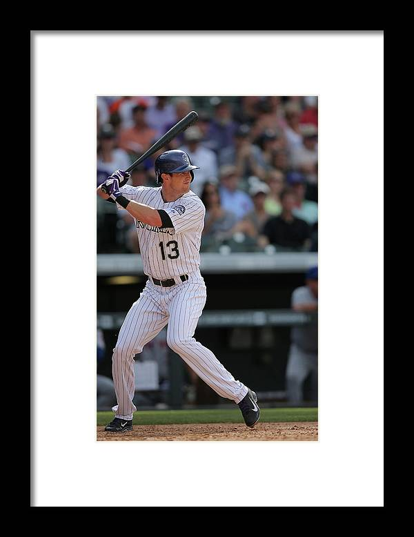 National League Baseball Framed Print featuring the photograph Drew Stubbs by Doug Pensinger