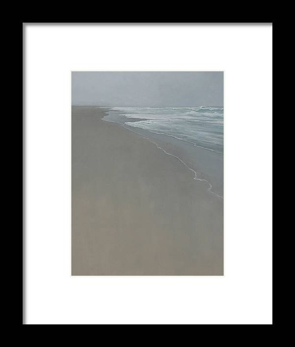 Framed Print featuring the painting Drift by Mary Jo Van Dell