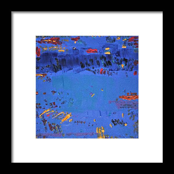 Blue Framed Print featuring the painting Dry Heat by Pam Roth O'Mara