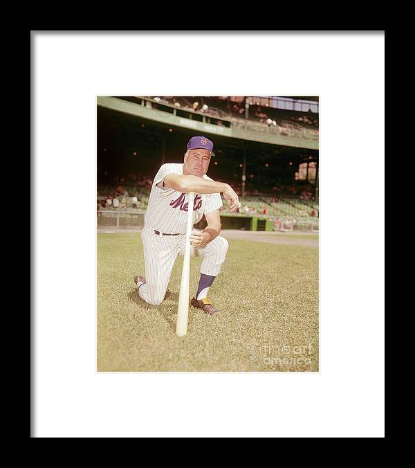 Duke Snider Framed Print featuring the photograph Duke Snider by Louis Requena