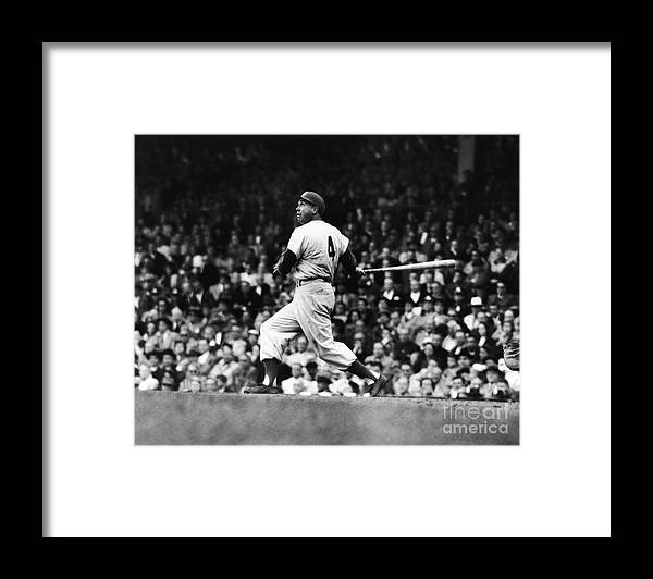 Following Framed Print featuring the photograph Duke Snider by Robert Riger