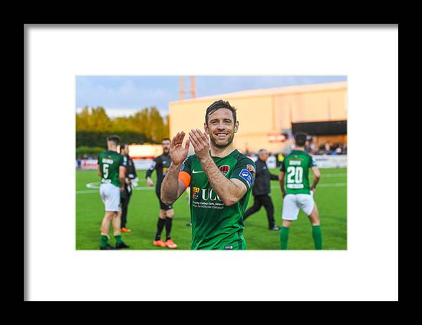 Following Framed Print featuring the photograph Dundalk v Cork City - SSE Airtricity League Premier Division by Ramsey Cardy