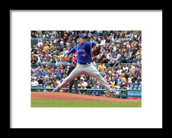 Professional Sport Framed Print featuring the photograph Dustin Mcgowan by Justin K. Aller