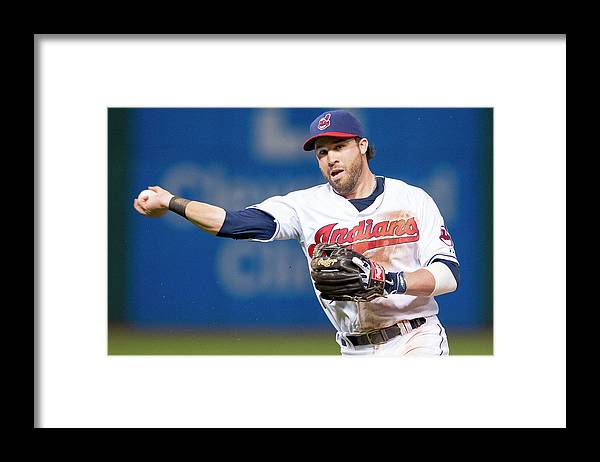 American League Baseball Framed Print featuring the photograph Dustin Pedroia and Jason Kipnis by Jason Miller