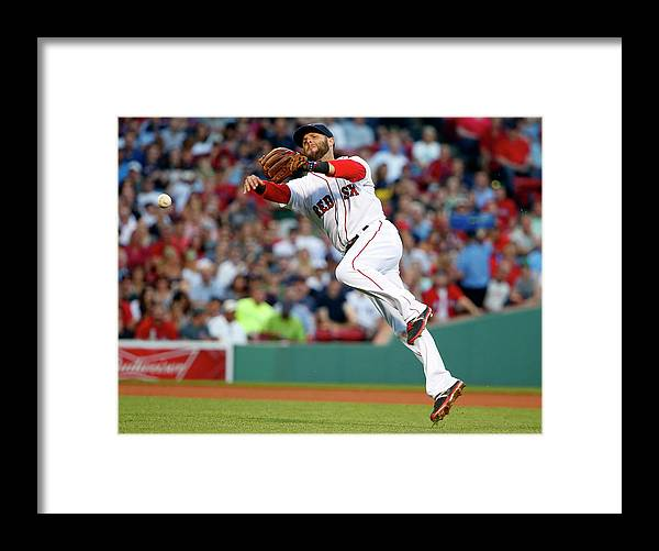 People Framed Print featuring the photograph Dustin Pedroia and Travis Snider by Winslow Townson