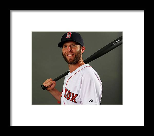 Media Day Framed Print featuring the photograph Dustin Pedroia by Elsa
