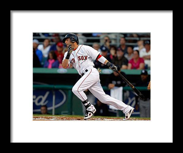 American League Baseball Framed Print featuring the photograph Dustin Pedroia by J. Meric