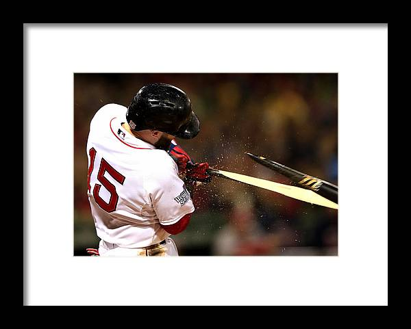 St. Louis Cardinals Framed Print featuring the photograph Dustin Pedroia by Jamie Squire