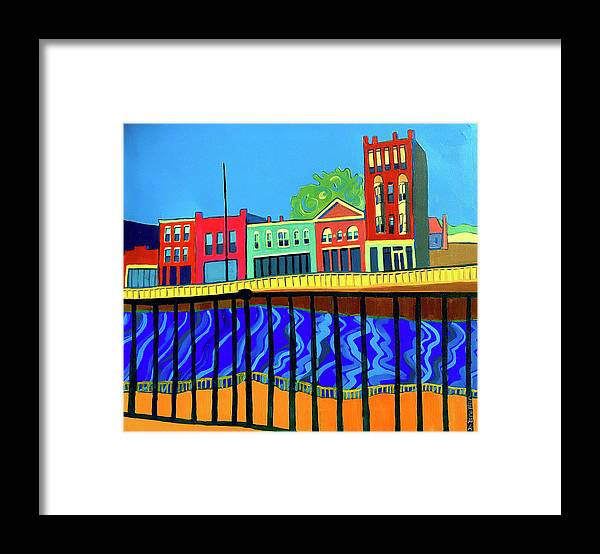 Cityscape Framed Print featuring the painting Dutton Street by Debra Bretton Robinson