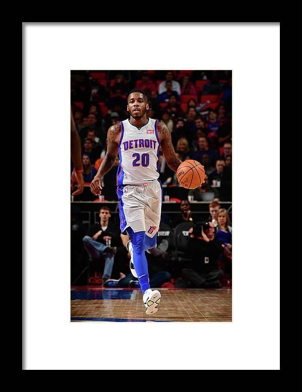 Nba Pro Basketball Framed Print featuring the photograph Dwight Buycks by Chris Schwegler