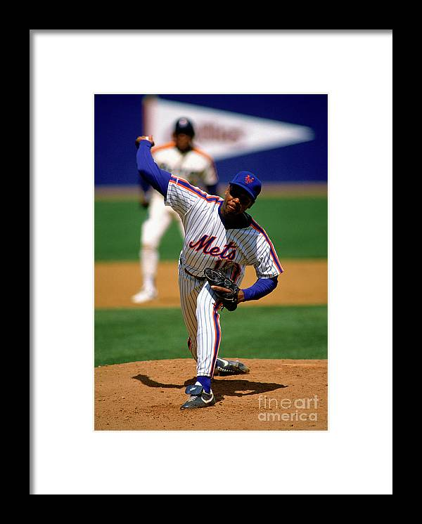 Dwight Gooden Framed Print featuring the photograph Dwight Gooden by Mlb Photos